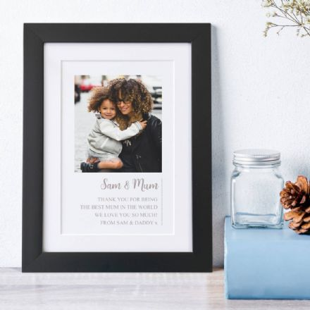 Personalised Framed Photo And Text Memories Print